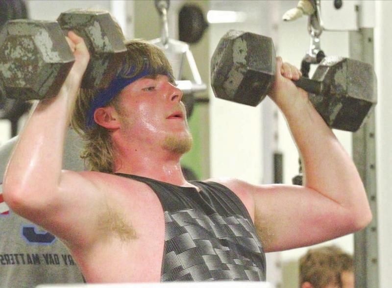 After long absence, athletes return to strength program