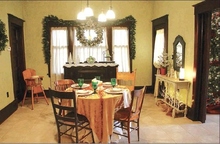 The dining room area will remain largely unchanged during the Trout's remodeling plans. A door in the in the far right corner had been used as the main entrance when Grace Starr lived at the home. (Record Photo)