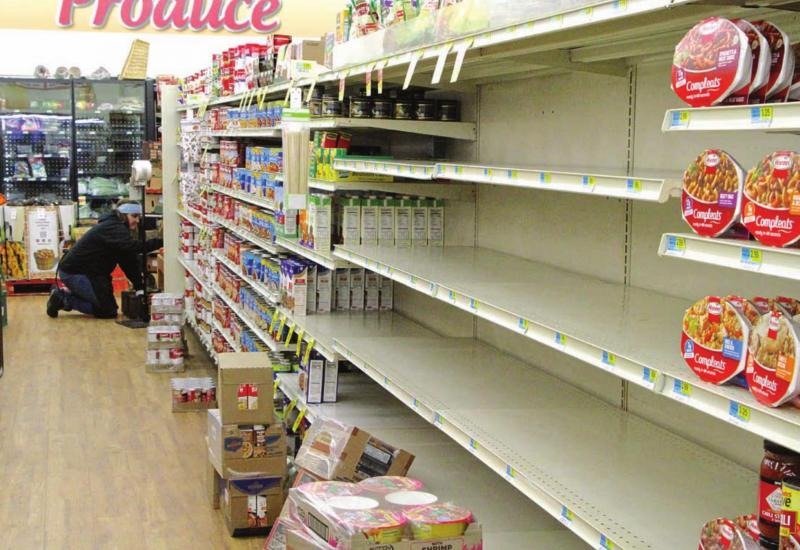 Local supermarket trying to keep pace with Covid-19 panic buying
