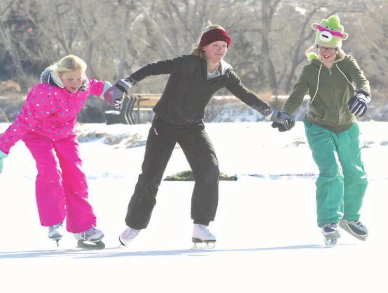 frozen fun at Lake Scott